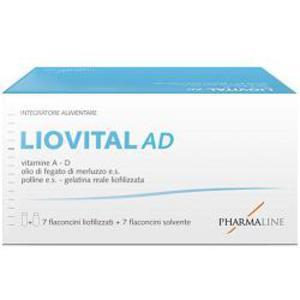 Liovital AD 7 flaconcini liofilizzati + 7 flaconcini solvente