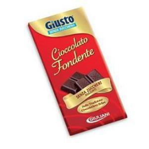 Giusto S/Zucch Cioccolato Fondente 85g
